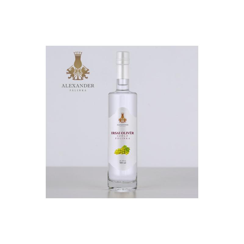 Alexander Irsai Olivér szőlő pálinka 44% 0.5l