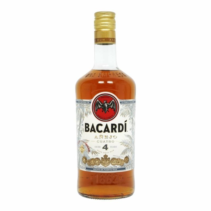 Bacardi Cuatro 4 éves rum 40% 0.7l