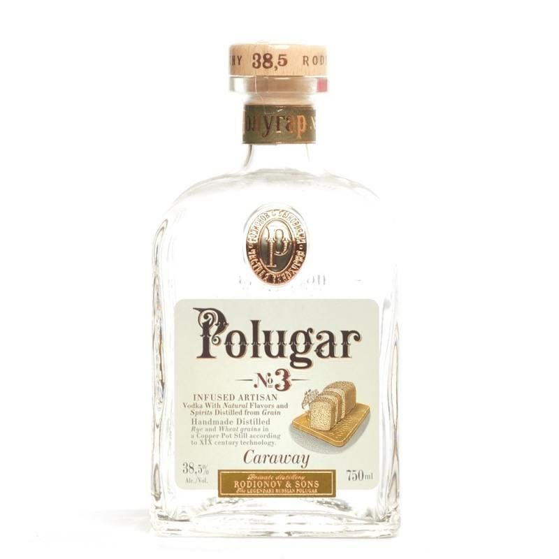 Polugar N.3 Caraway vodka 38.5% 0.7l
