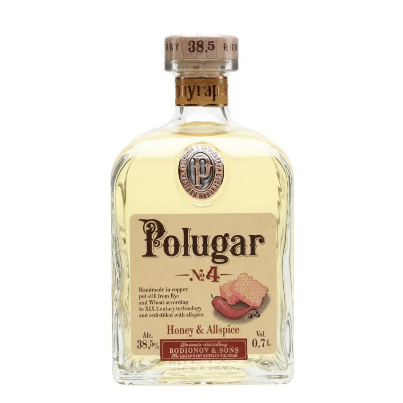 Polugar N.4 -Honey & Allspice vodka 38.5% 0.7l