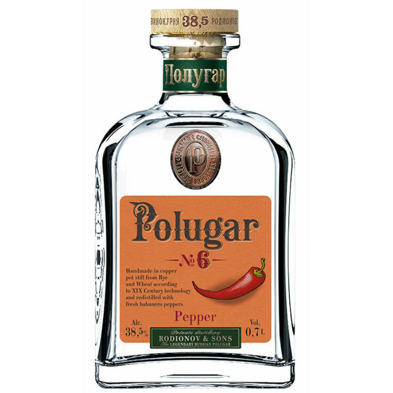 Polugar N.6 - Pepper vodka 38.5% 0.7l