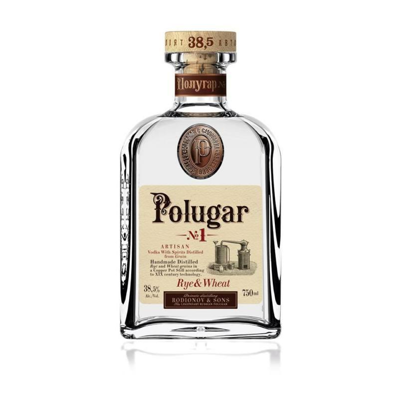 Polugar N.1 - Rye & Wheat vodka 38.5% 0.7l